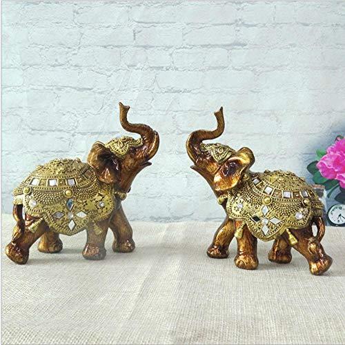 Adornos de artesanía de Resina de Elefante Decoraciones de Sala de Estar Sudeste de Asia Elefante Feng Shui Adornos de Elefante