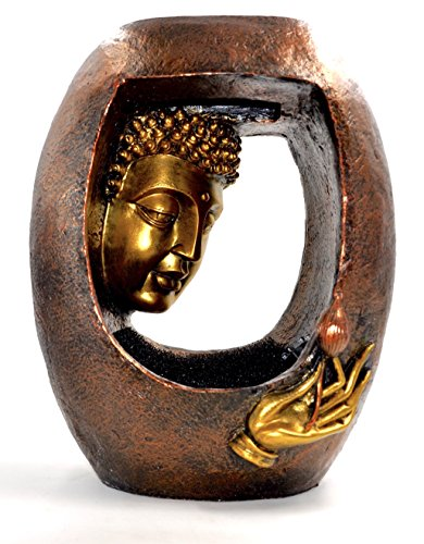Buddha Face Fountain ~ Blessings with LED Lights and Electric Motor ~...