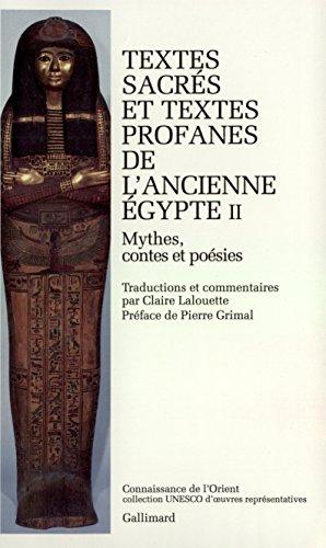 Textes sacrés et textes profanes de l'ancienne Egypte, tome 2 par  Anonymes