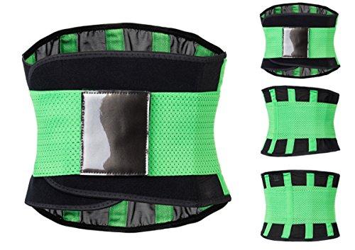 Kranchungel Damen Taille Trainer Ab Gurt-Körper-Former-Gürtel Taillen-Trimmer Lower Back Korsett Grün