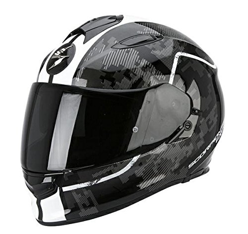 Casco de moto Scorpion Exo 510, color negro o blanco