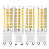 Yuiip Lampadine LED G9 5W Equivalente a 45W 50W Lampada Alogena Bianco Caldo Non Dimmerabile AC220-240V, Confezione da 4 [Classe di efficienza energetica A++]