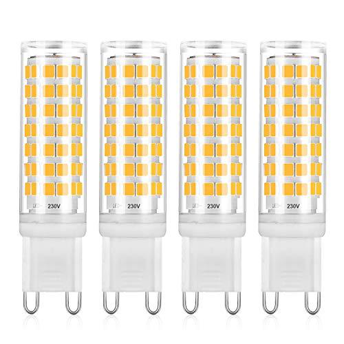 400LM bombillas de ahorro de energía de ángulo de haz de 360 ° equivalentes a bombillas halógenas 40W Bombillas LED G9 AC220-240V 5W 32 x 2835 Lámparas LED SMD 10 paquetes 3000K blanco cálido