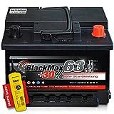 BlackMax+30% - 12 V / 63 Ah - 580 A/EN Autobatterie KFZ PKW Batterie inkl. Polfett