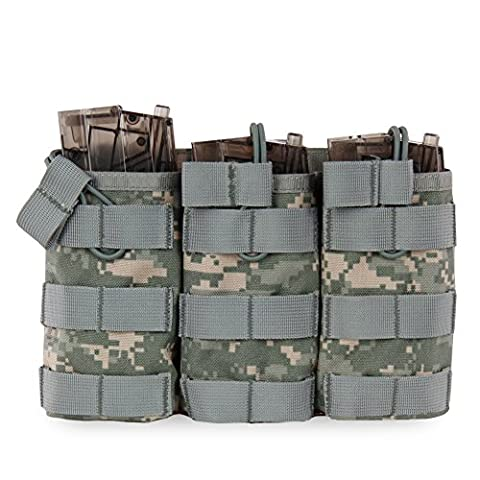 FlightBird Outdoor Nylon Tactical Molle Army Pouch Belt Waist Bag Sac ¨¤ dos Militaire imperm¨¦able Military Waist Pack Phone Pocket Adjustable Vest Plate