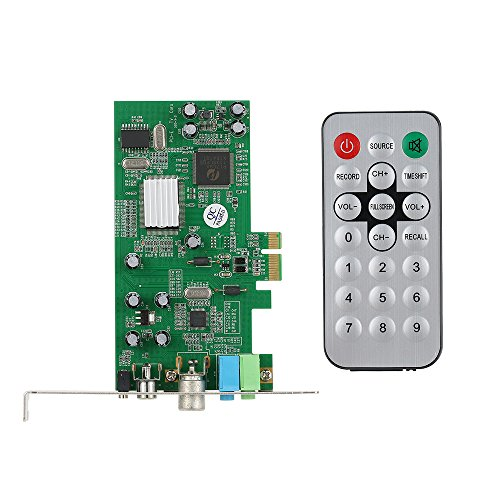 KKmoon Tarjeta Sintonizadora de TV Interna PCI-E Video MPEG Grabador de Captura DVR PAL BG PAL I NTSC SECAM PC Tarjeta Multimedia PCI-E Remote