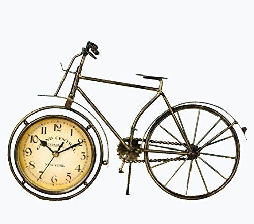 chuhr Fahrrad Uhr-Heimtextilien-Retro-Schmiedeeisen Handwerk Fahrrad Tischuhr (Colts-dekor)