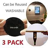 [3 PACK] Premium Fixate Cell Pads par sunshot, bâton anti-glisse GEL Pads - peut Stick à verre, miroirs, tableaux blancs, en métal, armoires de cuisine ou de tuiles, voiture GPS et beaucoup plus