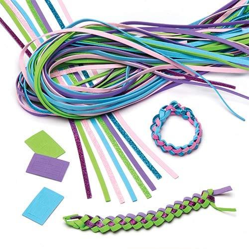 Baker Ross Armband Weaving Kits (Packung mit 24) für Kinder zu machen