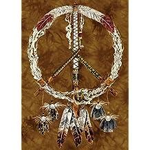 """Tree Free tarjeta de felicitación de tubos de """"paz"""""""