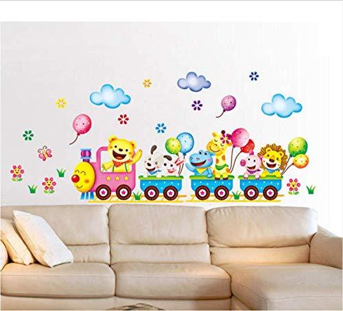 Diy Entfernbare Wandaufkleber Cartoon Niedlichen Tiere Zug Ballon Kinder Schlafzimmer Wohnkultur Wandbild Aufkleber 24 * 42 Cm 2Psc / Set - Ballon Yoyo