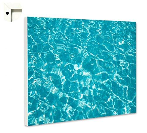 Magnettafel Pinnwand Motiv Muster Swimming Pool türkis Größe 40 x 60 cm