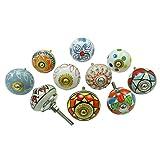 Gabinete de cerámica única cajón Knob multicolor Armario de cocina tira de las 10 piezas