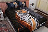CHAOSE Sonnenuntergang Elch, Tiger und Red Wolf Bettwäsche Set,Superweiche Polyester-Baumwolle,3-teilig (1 Bettbezug + 2 Kissenbezüge 48x74cm) (Königsstil, Double Size(200x200CM 1.8M Breites Bett))