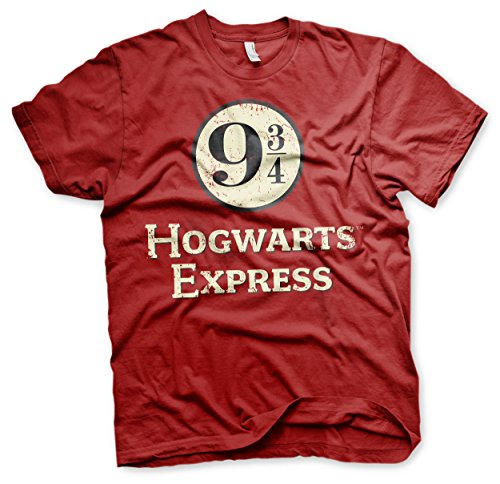 Official Harry Potter - Camiseta - para Hombre Rojo M