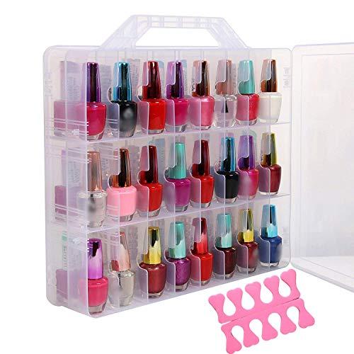Organizzatore smalti cosmetic organizer scatola acrilico cassettiera smalto per unghie esposizione 48 ripiani