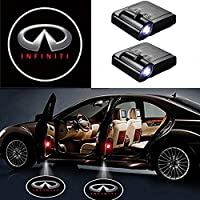 MIVISO LED Car Projector, 2 Piece Car Door Welcome Shadow Light, Universal Wireless Magnetic