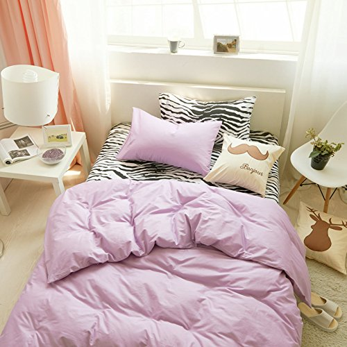 Duvet Cover & Pillowcase Set Bedding King Queen Bedding Bedroom Daybed,H King -