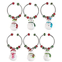 Boston Warehouse Let it Snow Wine Charm, Set of 6