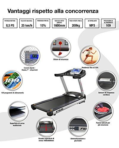 Sportstech F65 Profi Laufband mit 7 Zoll Display  Lauffläche HRC Funktion 109 Programme Abbildung 2