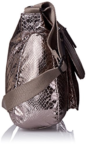 Rosetti Cool And Collected Large Crossbody Donna Ecopelle Pewter Disco Snake