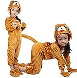 Disfraces de animales para niños Disfraz de pijama con capucha y unisex (Perro, M (Para niños de 105-120 cm de altura))
