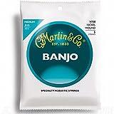 Martin V-730 Jeu de 5 Cordes pour Banjo medium