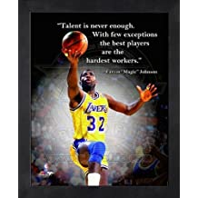 Magic Johnson LA Lakers Pro citas enmarcado 8 x 10 fotos