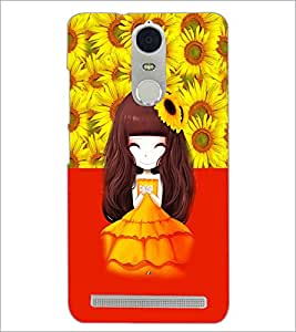 PrintDhaba Cute Animated Girl D-3598 Back Case Cover for LENOVO K5 NOTE (Multi-Coloured)
