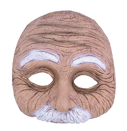 1Old Man Halbmaske mit Schnurrbart (One Size) (Stick Mann Kostüm Für Halloween)