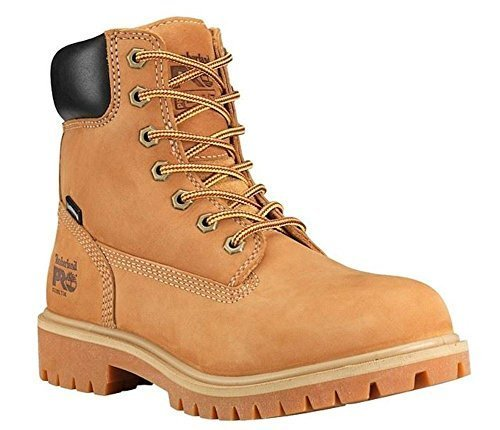 Timberland PRO Women s Direct Attach 6  Steel Safety Toe Waterproof Insulated Wheat Nubuck Leather 12 B US