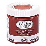 Rayher 38867222 Chalky Finish auf Wasser-Basis, Kreide-Farbe für Shabby-Chic-, Vintage- und Landhaus-Stil-Looks, 118 ml, rost