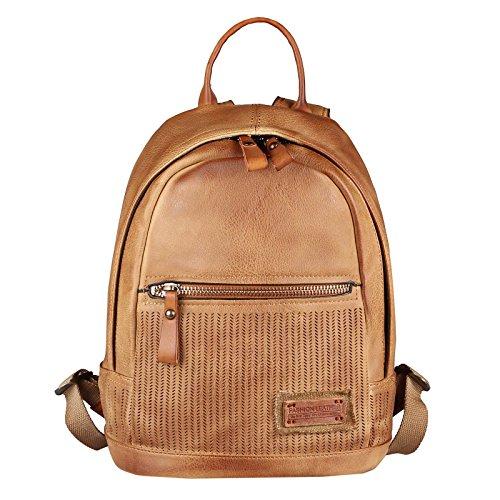 OBC DAMEN LEDER RUCKSACK TASCHE Tasche Cityrucksack Schultertasche Handtasche Shopper Daypack Backpack Lederrucksack Ledertasche (Cognac 28x30x14) (Cognac Stoff Handtaschen)