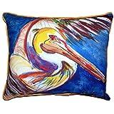 Reißverschluss Betsy Drake Pelican Wing Outdoor Kissen 50,8x 61cm