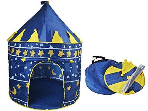 Kinderzelt Spielzelt Spielhaus Blau Schloss Zelt Kinder Neu #1163