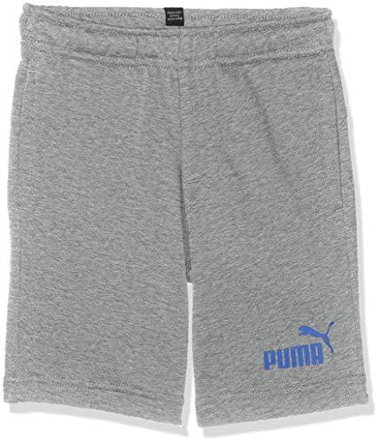 PUMA Jungen ESS Sweat Shorts B Jogginghose, Medium Gray Heather, 164