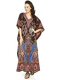 60601a2a26 Looking Glam Damen überdimensional Maxi Kimono Kaftan Tunika Kaftan Damen