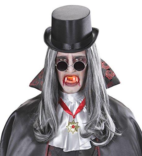 Vampirzähne Dracula Vampir mit LED Lichtreflekt Halloween Spitze -