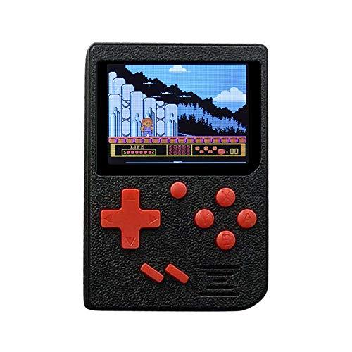 Cooljun Handheld-Spielkonsole, 3 Zoll 400 Spiele Retro FC-Spiel-Spieler-Klassische Spiel-Konsole 1 USB-Gebühr, Geburtstagsgeschenk für Kinder Eltern Freunde (Schwarz)