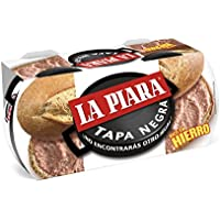La Piara Tapa Negra Paté de Higaro de Cerdo - Pack de 2 x 115 g - Total 230 g