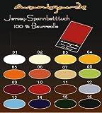 Wasserbetten Boxspringbett Jersey Spannbettlaken SPANNBETTTUCH AVANTGARDE 100% Baumwolle, WASSERBETT Bettlaken 180x200 bis 200x220 Farbe 18 anthrazit