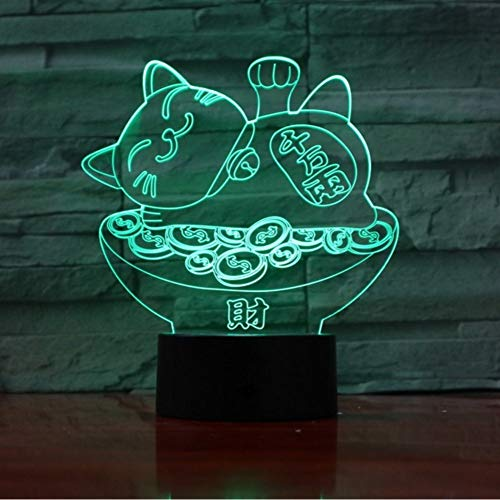 Lkfqjd Glück Schatz Katze 3D Kreative Lava Lampe 7 Farbwechsel Led Rgb Licht Nachtstimmung Dekor Geschenk Schlafzimmer Tischlampe 3D-967