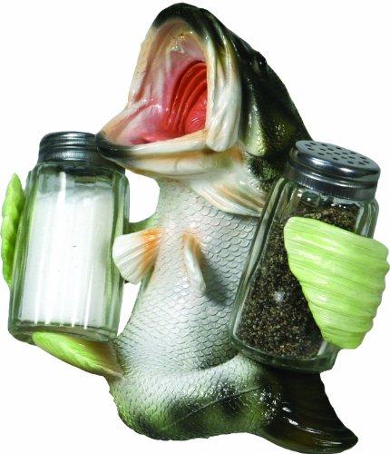 River's Edge Salz- und Pfefferstreuer aus Polyresin, handbemalt, Herren, Bass, 9