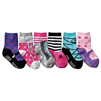 JT-Amigo 6 Pairs Baby Girls Non-skid Cotton Socks Anti Slip