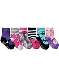 JT-Amigo 6 Paire de Chaussettes Antiderapants Bébé Filles 6 à 36 mois