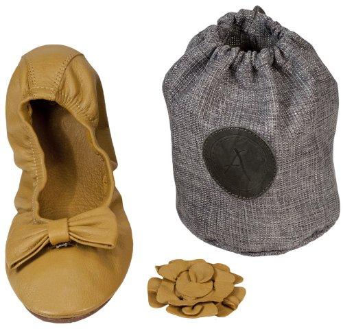 ATRIOLIS - ballerines cuir pliables avec accessoires - femmes Safran
