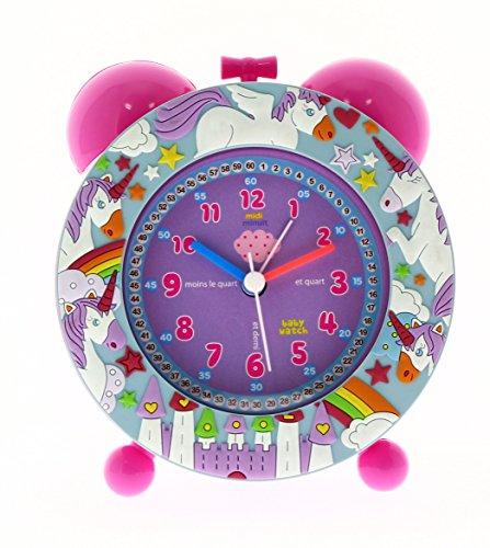 Baby Watch Unicornio Despertador Infantil, plástico, Rosa, 11x 6x 13cm