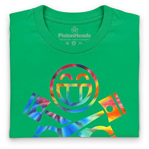 PistonHeads Smiley Multi T-Shirt, Herren Keltisch-Grn