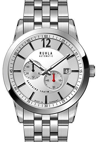 garde 'ruhla relojes de ruhla reloj automático para hombre 31001m con cristal de zafiro
