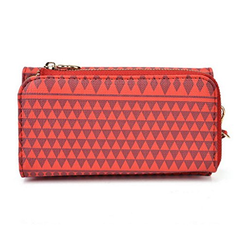 Kroo Pochette/étui style tribal urbain pour Blu Vivo Air/Win HD LTE Multicolore - White with Mint Blue Multicolore - rouge